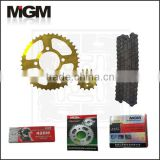 OEM motorcycle chains sprocket manufacturer,bajaj discover chain