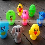customized baby bath toy, cute soft play animal pvc bath toys,Spray water animal bath toys plastic toy