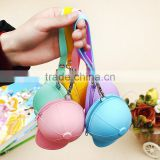cute cartoon candy-colored baseball cap hat mini coin bag silicone key cases women change