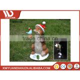 China Home Decor Wholesale Promotional Gifts Resin Craft Fox Ornament Solar Led Light Of Christmas