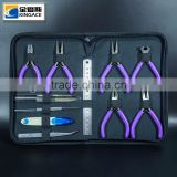 12pcs Jewelry Crafting Set with Plier, Tweezer, Awl, File, Ruler and Bead Scoop