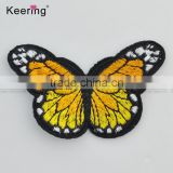 Hot sale lifelike butterfly embroidery textile patch for garment accessory
