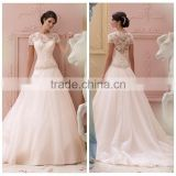 pink chiffon cap sleeve ball gown lace pakistan wedding dress
