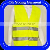 Customized printing polyester reflective vest for male,security safety vest to proctect body safety in black night