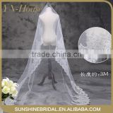 wholesale new design 2 layers bead edged wedding accessories Bridal Veil