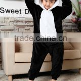 Kids quality flannel panda pyjamas