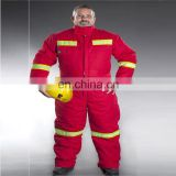 Mens workwear waterproof Heavy Winter offshore coveralls with reflective tape safety workwear clothing