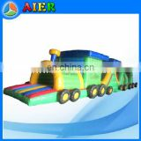 Newly Popular Kid Toys Inflatable Obstacles inflatable Train Obstacle for rental and commercial