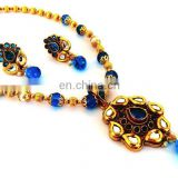 Indian Wholesale Kundan Pendant set-Fashion Jewelry-Imitation Jewellery-gold plated Indian ethnic jewelry