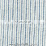 LINEN FABRIC WHITE AND BLUE