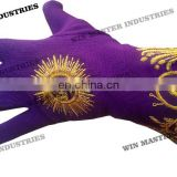 full hand made embroidery gloves / fancy gloves /