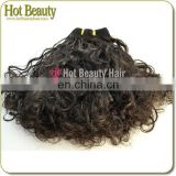 Fashion Style 6A Hair Best Quality Puffy 6A Human Hair Blend Weave