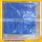 plastic poly tarps tarpaulin sheet cover fabric with welding edge and pp rope package in transparent pe bags