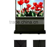 "100"" 4:3 Portable pull floor up projector screen"