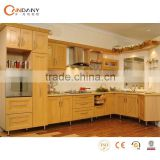 Natural wooden melamine board kitchen cabinets,fiber kitchen cabinet