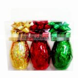Holographic Plastic Ribbon Bows/ Satin Curling Ribbon Egg and Confetti Star Bow for Decoration