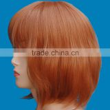 aliexpress short synthetic wig, synthetic lace wig chirstmas day hot selling factory price