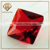 Fashion dimond setting garnet gemstone wholesale glass gems for jewelry