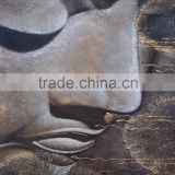 Popular and high quality Buddha face oil painting for home decoration
