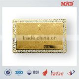 MDC1324 VIP Golden Membership Metal card for shop/chinese card manufacturer
