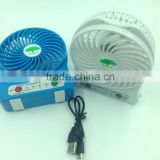 Rechargeable Battery Powered USB Cooler Adjustable Speed usb personal fans mini usb fan with Led Light