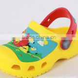 Wholesale Little Bird Kids EVA garden shoes 3D cartoon sandals children clogs black blue yellow