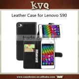 New Luxury Flip Wallet Stand PU Leather Cover Case Skin For Lenovo S90 Mobile Phone