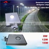 High lumen solar power outdoor solar gate post pillar light