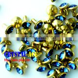 Bulk Gold Crystal Rhinestone Stud ,diamond rivets for Leather Craft