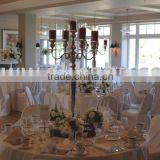 5-light glass hurricane candelabra/Wedding candelabra with crystal hurricanes/Antique candelabra