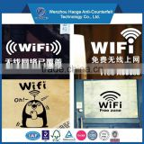 Customized pvc decor wifi stickers decals for window stickers decals & window static cling sticker