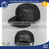 Factory price! Design your own metal logo custom leather patch logo snapback hats wholesale