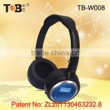 2015 wireless headphones with built-in mp3 player FM and TF card, wireless magnetic card reader headphones