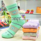 Colorful Bear Pattern Pure Cotton Terry Socks for Women and Girls