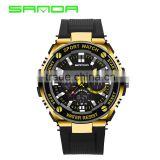 2016 New SANDA Luury Brand Men Military Sports Watches Waterproof LED Date Silicone Digital Watch For Men G style digital-watch