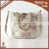 HD0995-1 Reshine Vintage Tote Style Mummy Bag Lady Waterproof Oil Cloth Fancy Bag Fashion Canvas with PVC Diaper Bag