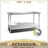 HWT-2-66R SUS 201 Stainless Steel Work Bench                                                                         Quality Choice