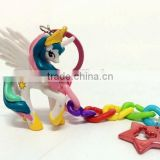 Lovely My Little Pony Action Figures Colorful Dash Pony Kids Toys Doll Set 12pcs key chain