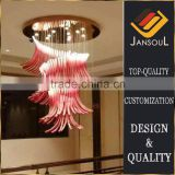 manufacturer in china restaurant decoration red glass bubble light