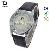changeable leather hollow engraving face pierced mens watch