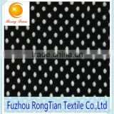 Factory sales polyester warp knitting plushed hole net fabric for blanket