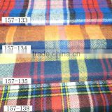 16*16 58*52 cotton/polyester yarn dyed flannel check fabric for shirt with stock bulk high quality