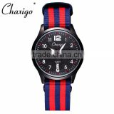 SHK-CHAXIGO changeable straps watch/design multi colors nato strap watch with Japan quartz movement