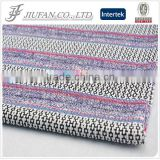 jacquard ribbon wholesale with silver lurex yarn for cut and sew knit fabrics wholesaler