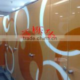 Colorful Compact Laminate Hpl Commercial Toilet Door Design
