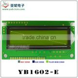Transparent LCD Display LCD1602 Yellow and green screen with backlight LCD display LCD 1602 5V