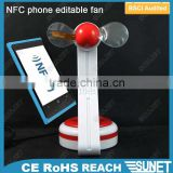 air cooler certificated plastic phone NFC stand led fan