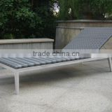 grey color rattan chaise lounger daybed, outdoor garden lounger daybed, beach lounger chair