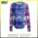 Women polyester fitness running t shirts, wholesale long sleeve sexy women polyester t shirts/dry fit t shirts