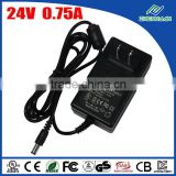 UL certified wall mount 18W 24V 0.75A power adapter with US plug                                                                                                         Supplier's Choice